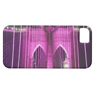 Brooklyn Bridge Lit Purple Case For The iPhone 5