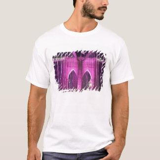 Brooklyn Bridge Lit Purple T-Shirt