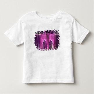 Brooklyn Bridge Lit Purple Toddler T-Shirt