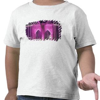 Brooklyn Bridge Lit Purple Tshirts
