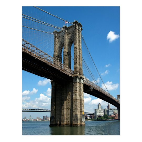 Brooklyn Bridge Manhattan island New York Postcard