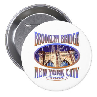 Brooklyn Bridge New York 7.5 Cm Round Badge