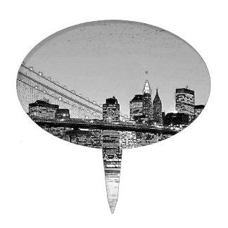 Brooklyn Bridge New York City Cake Pick
