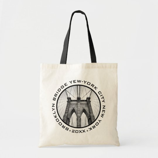 Brooklyn Bridge New-York City Landmark Custom Text Tote