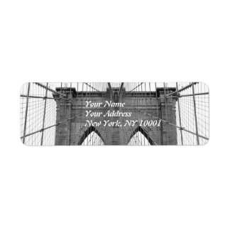 Brooklyn Bridge, New York City Return Address Label