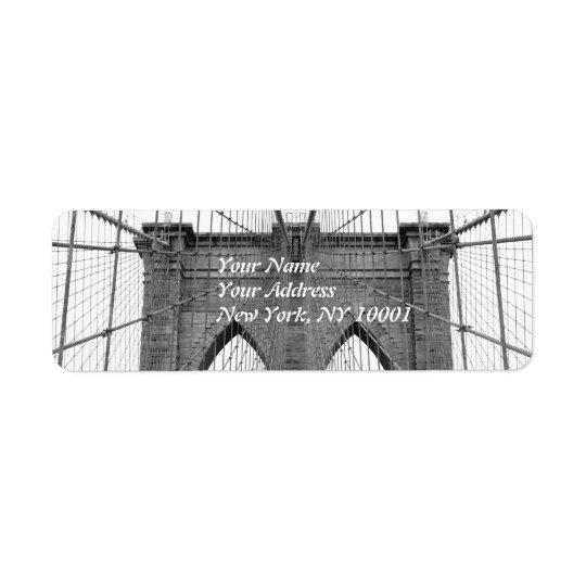 Brooklyn Bridge, New York City Return Address Label