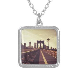 Brooklyn Bridge - New York City Square Pendant Necklace