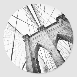Brooklyn Bridge, New York Classic Round Sticker