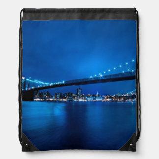 Brooklyn Bridge, New York Drawstring Bag