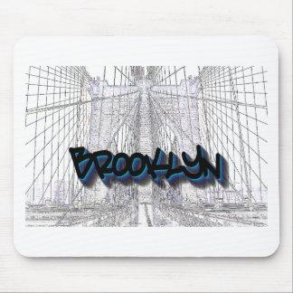 Brooklyn Bridge, New York Graffiti, Street Art Mouse Pads
