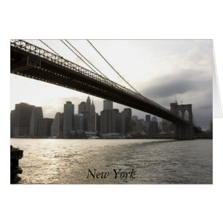 Brooklyn Bridge, New York Greeting Card