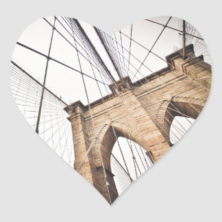 Brooklyn Bridge, New York Heart Sticker