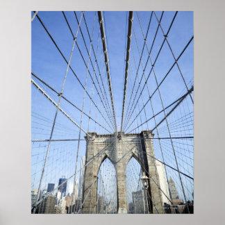Brooklyn Bridge, New York, NY, USA Poster