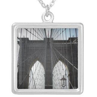 Brooklyn Bridge, New York, NY USA Silver Plated Necklace