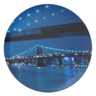 Brooklyn Bridge, New York Plate