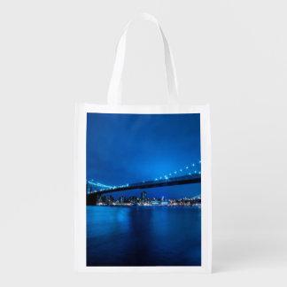 Brooklyn Bridge, New York Reusable Grocery Bag