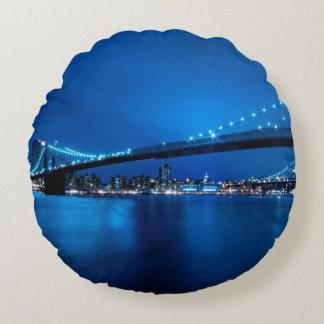 Brooklyn Bridge, New York Round Cushion