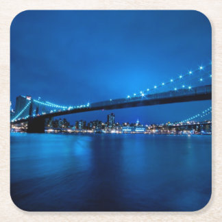 Brooklyn Bridge, New York Square Paper Coaster