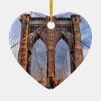 Brooklyn Bridge New York USA Ceramic Heart Decoration