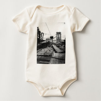 Brooklyn Bridge New York Vintage 1878 Photo Baby Bodysuit