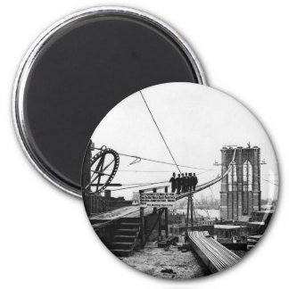 Brooklyn Bridge New York Vintage 1878 Photo Magnet