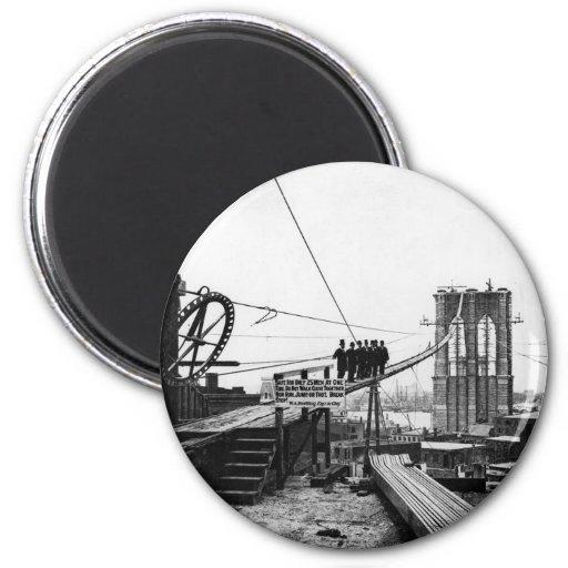 Brooklyn Bridge New York Vintage 1878 Photo Refrigerator Magnet
