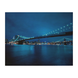 Brooklyn Bridge, New York Wood Canvas