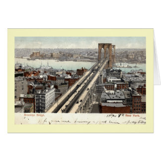 Brooklyn Bridge NY 1907 Vintage Greeting Card