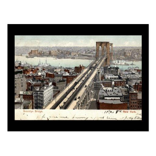 Brooklyn Bridge NY 1907 Vintage Post Cards