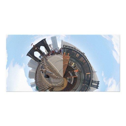 Brooklyn Bridge NYC 360 Degree Panorama Photo Card