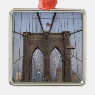 Brooklyn Bridge NYC Sun-rise on Christmas Eve Christmas Ornament