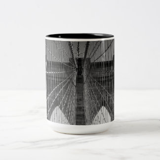 Brooklyn Bridge NYC Two-Tone Coffee Mug