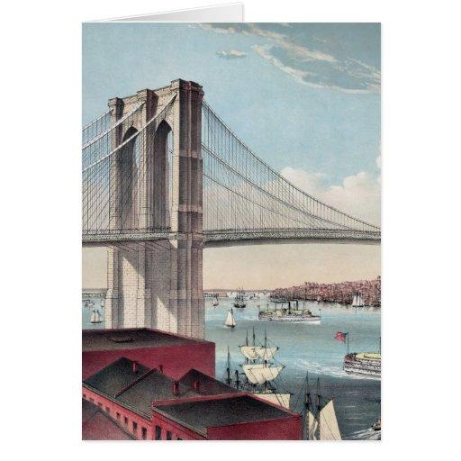 Brooklyn Bridge painting Cards