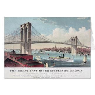Brooklyn Bridge painting Greeting Card