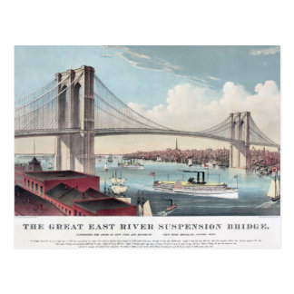 Brooklyn Bridge painting Postcard