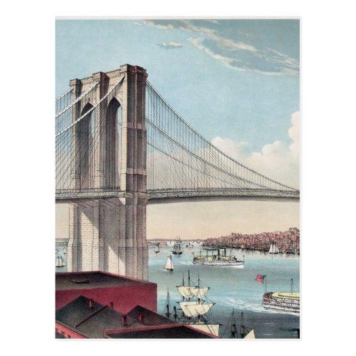Brooklyn Bridge painting Post Card