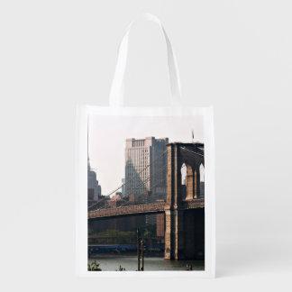Brooklyn Bridge Panorama Reusable Grocery Bag
