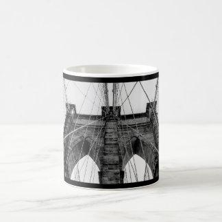 Brooklyn Bridge Photo in Black and White Mugs