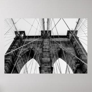 Brooklyn Bridge Photo in Black and White Posters