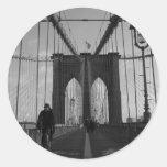 Brooklyn Bridge Photo Round Sticker