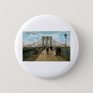 Brooklyn Bridge Promenade, New York City 6 Cm Round Badge