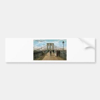 Brooklyn Bridge Promenade, New York City Bumper Sticker