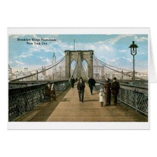 Brooklyn Bridge Promenade, New York City Card
