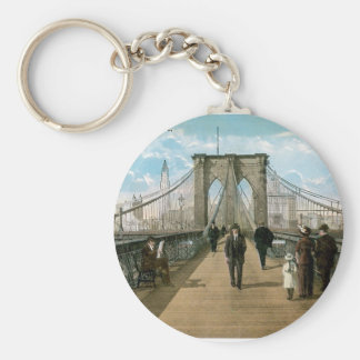 Brooklyn Bridge Promenade, New York City Key Ring