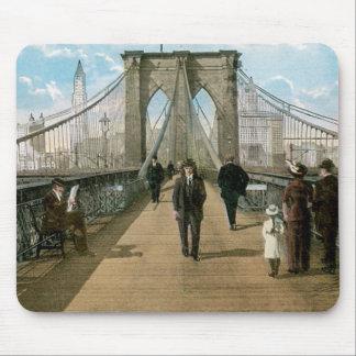 Brooklyn Bridge Promenade, New York City Mouse Mat
