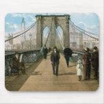 Brooklyn Bridge Promenade, New York City Mousemats