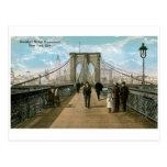 Brooklyn Bridge Promenade, New York City Postcard