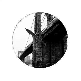 Brooklyn Bridge Round Clock