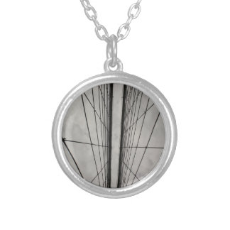 Brooklyn Bridge Round Pendant Necklace