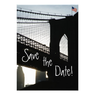 Brooklyn Bridge Save the Date Cards Invites